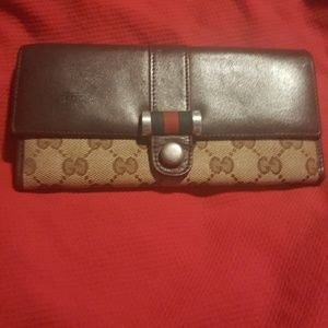 Gucci GG Canvas & leather Continental wallet